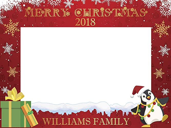 Amazon Com Merry Christmas Selfie Photobooth Frame Winter