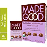 MadeGood Soft Baked Double Chocolate Mini Cookies, Allergy Friendly, Gluten Free & Safe For School Snacks, 30 Count