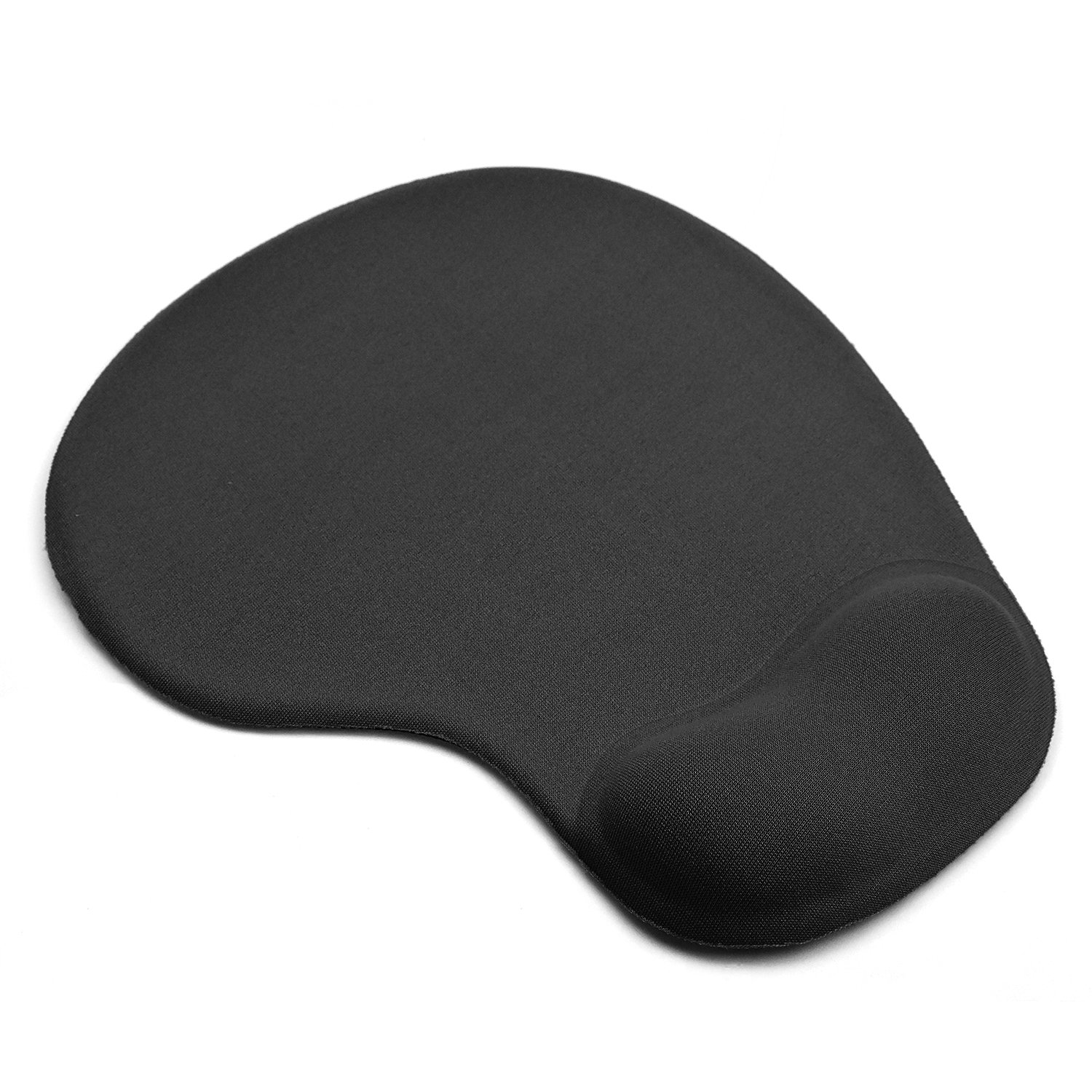 KATUMO Mouse Pad with Wrist Support Anti Slip Rubber base Foam Rest Wrist Support Mouse Mat with Gel Rest for Laptop PC Black