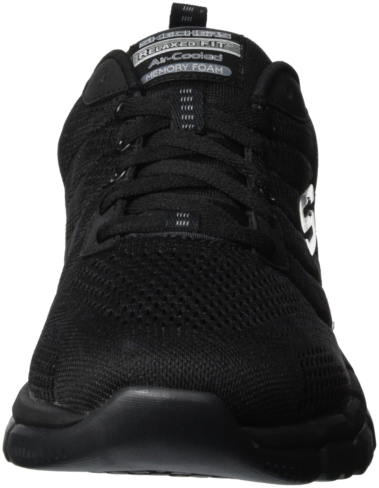 Skechers Sport Men's Skech Flex 2.0 Milwee Fashion Sneaker,Black,9 M US by Skechers (Image #4)