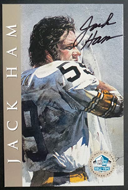 09168ef0def Amazon.com: PRO FOOTBALL HALL OF FAME Jack Ham 1998 Platinum Signature  Series NFL HOF Signed Autograph Limited Edition Card: Sports & Outdoors