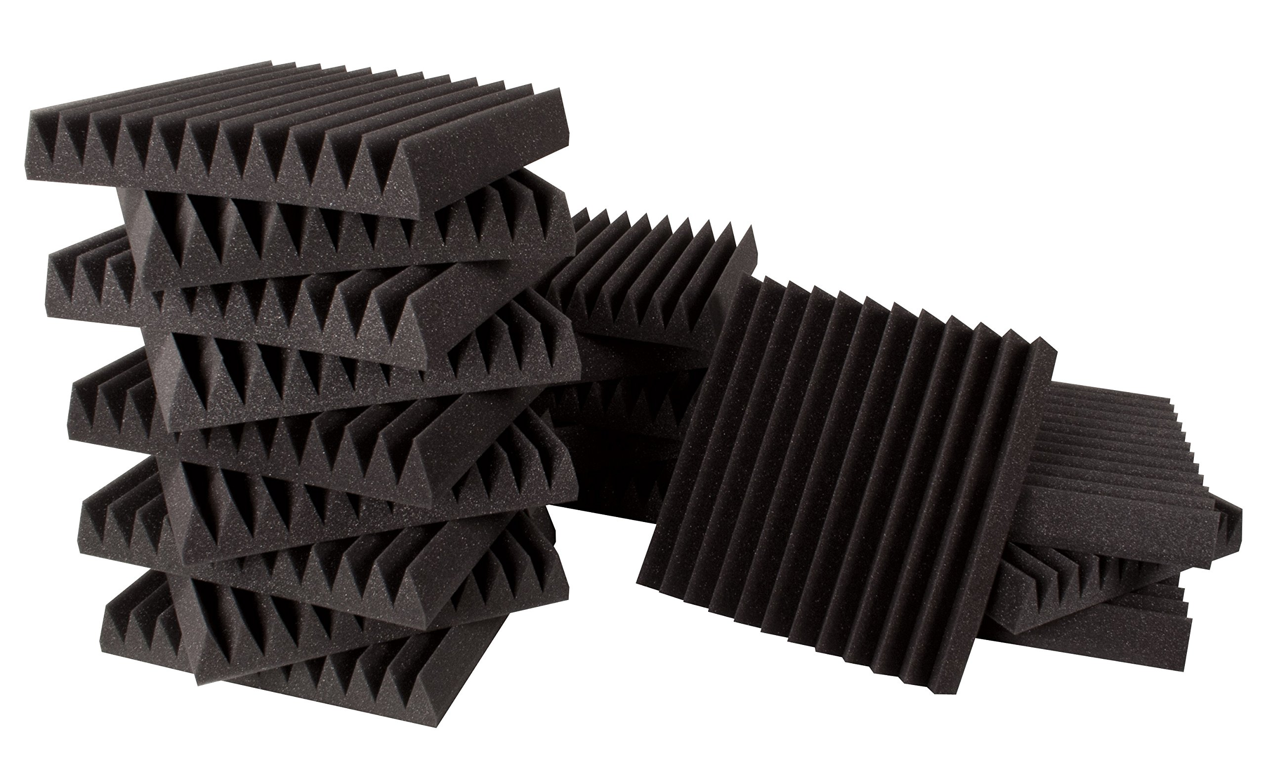 Ultimate Acoustics UA-KIT-SBIG Wedge-Style Acoustic Foam Studio Bundle I  with Mounting Tabs Included, 18 Piece Count
