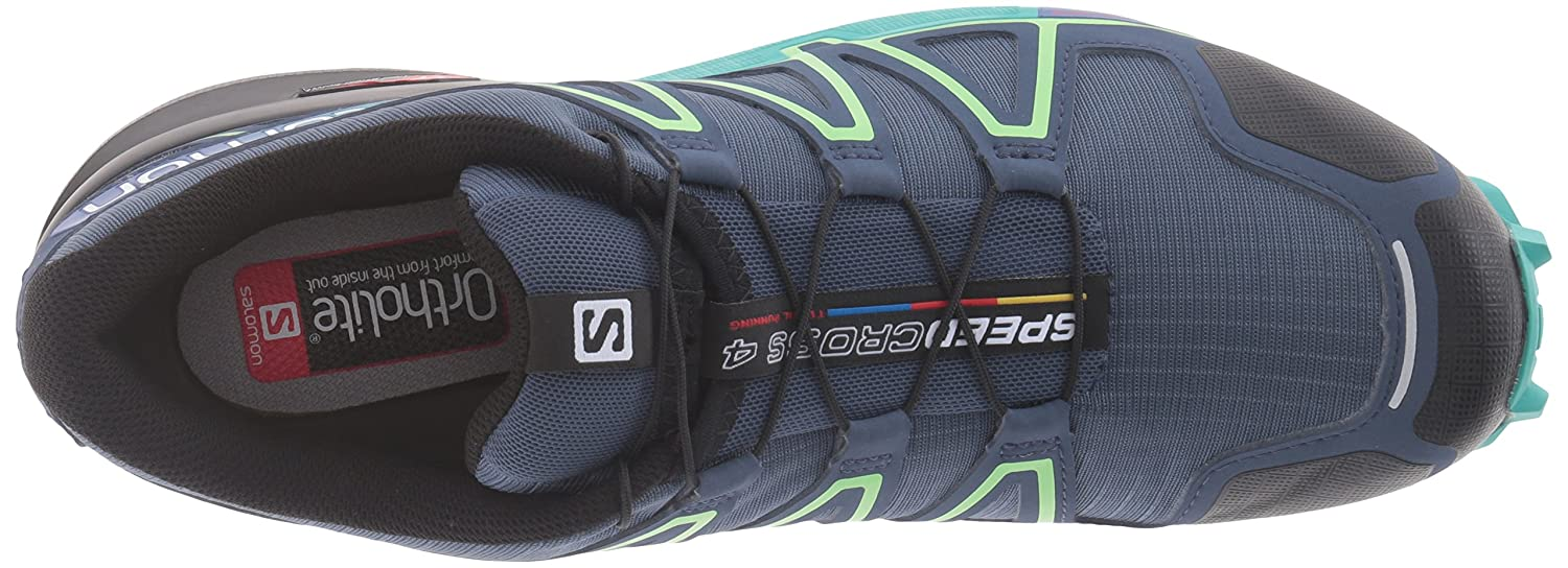 Salomon Women's Speedcross 4 W Trail Runner B017SR245Q 8 B(M) US|Slate Blue/Spa Blue/Fresh Green