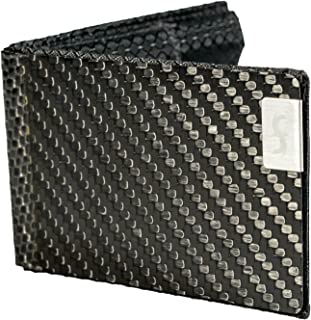 product image for Common Fibers BIZ - Real Carbon Fiber RFID Blocking Business Card Holder Slim Wallet with Twill Weave