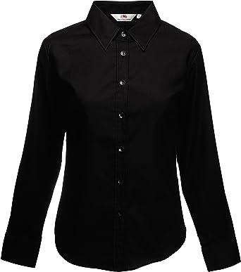 Fruit of the Loom - Camisa Oxford para mujer Negro (Black 101). XXXL: Amazon.es: Ropa y accesorios