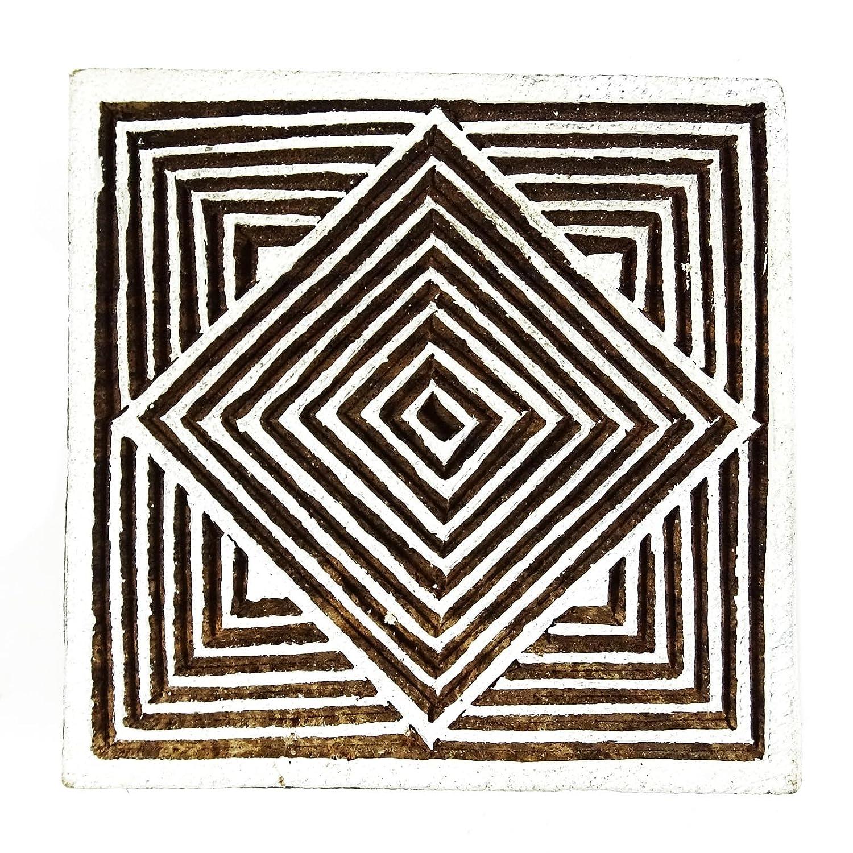 Blocco di legno arte francobolli legno blocco di stampa floreale design timbro confine indiano arte, Legno, Design#2, 2 x 2 Inches 2 x 2 Inches Indianbeautifulart