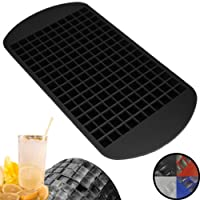 Zenify 160 Mini Ice Cube Tray - Chill your Fruit Smoothies, Blended & Bar Drinks Faster - Food Grade Silicone Tiny Small Grid Mould Set to Cool Freezer Crushed Blender Frozen Kitchen Gadgets Party Chocolate Bites Jelly Maker