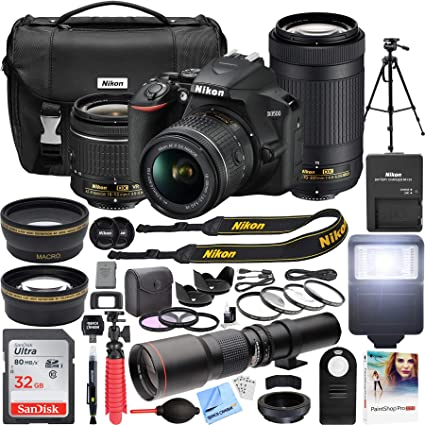 Amazon.com: Nikon D3500 Cámara DSLR con 2 lentes NIKKOR AF-P ...