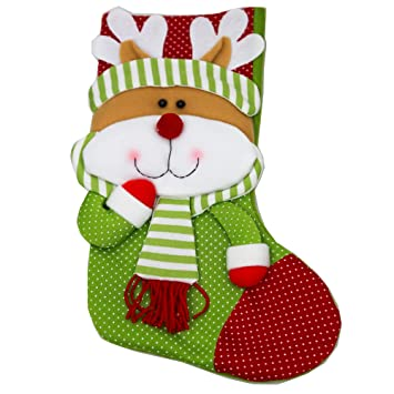 ladelle W21 Navidad calcetín 35 x 24 cm filzstrumpf/nikolausstrumpf – Papá Noel botas –