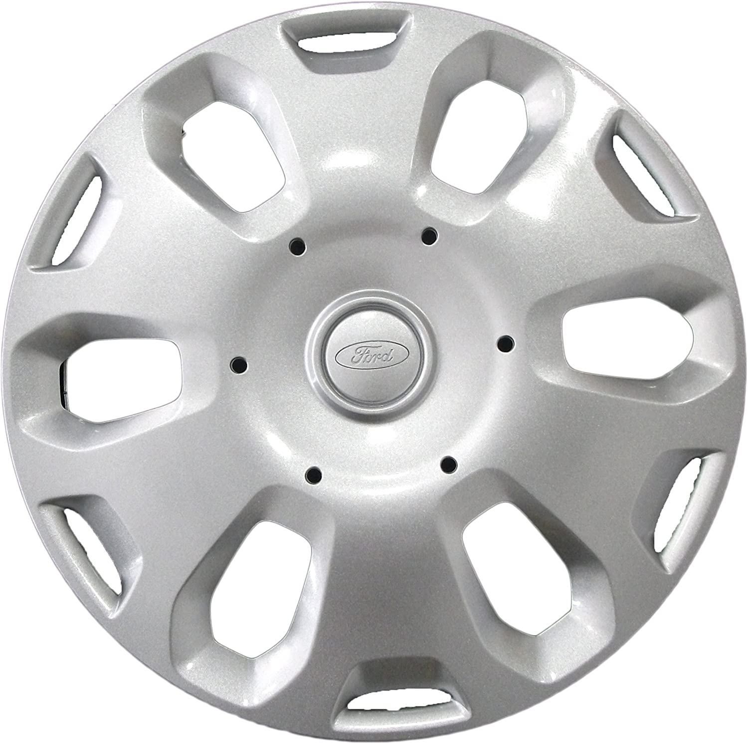 silver//white Ford Ka 14-inch Single Wheel Trim for 2008 Onwards,1558649