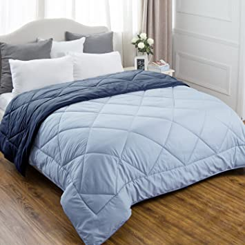 Amazon.com: Full/Queen Reversible Comforter Duvet Insert with ...