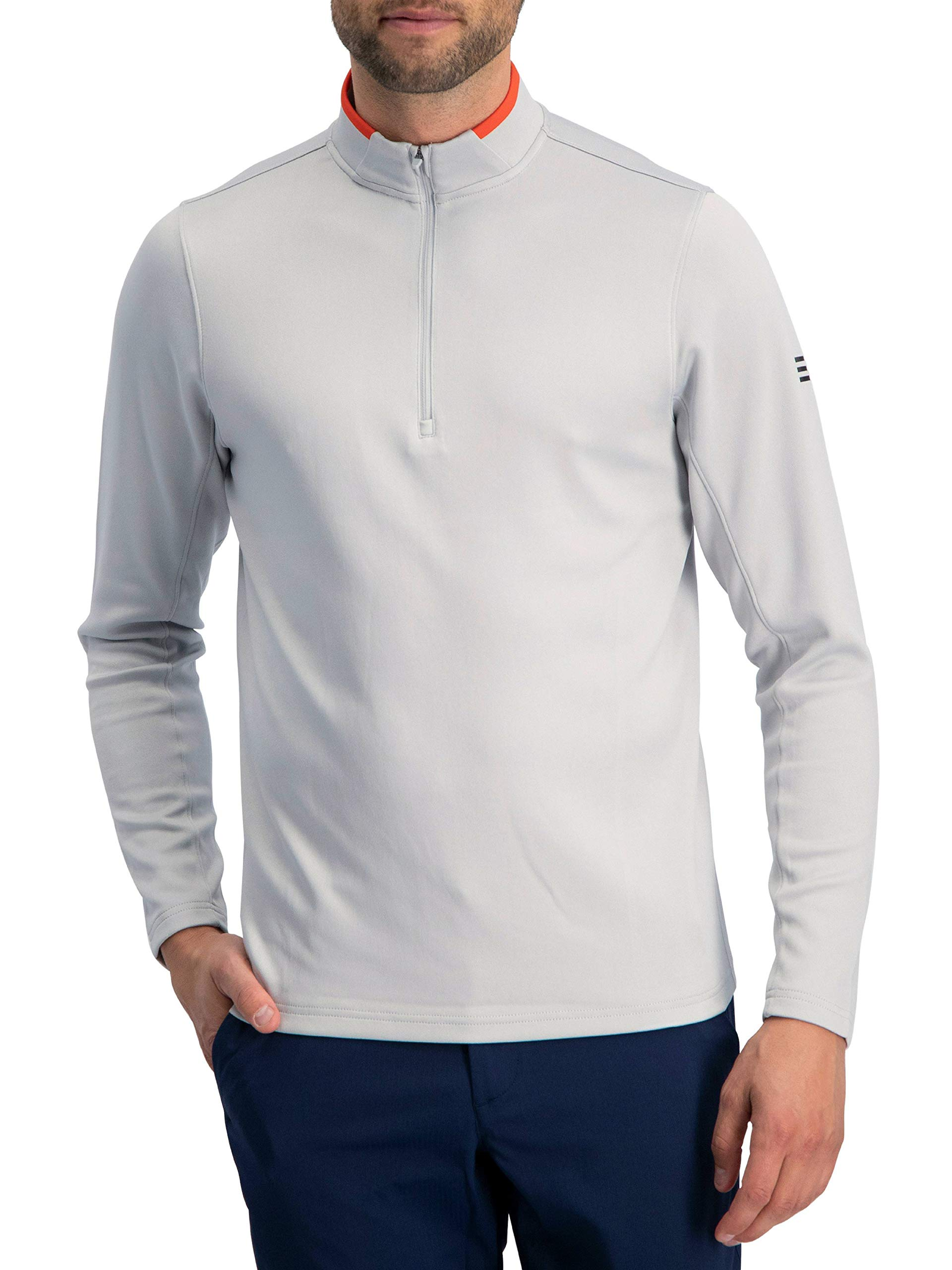 Golf Half Zip Pullover Men - Fleece Sweater Jacket - Mens Dry Fit Golf Shirts by Three Sixty Six