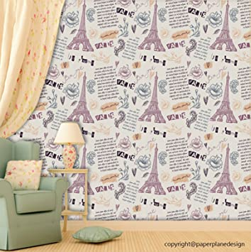 Buy Printelligent Paris Wallpaper Peel And Stick Wallpaper Self Adhesive Home Decor Room Kids Room Decor Wallpaper Wallpaper Size 26 7 Sqft Online At Low Prices In India Amazon In