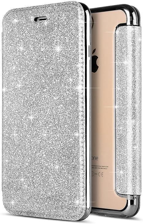 Custodia iPhone X Cover iPhone 10 Portafoglio Pelle SainCat