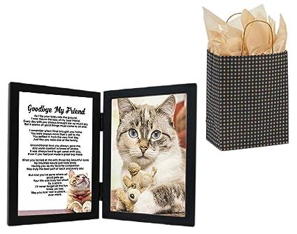 Cat Sympathy Gift, Goodbye My Friend, Pet Bereavement Photo Frame Sentimental Poem in 4 x 6 ...