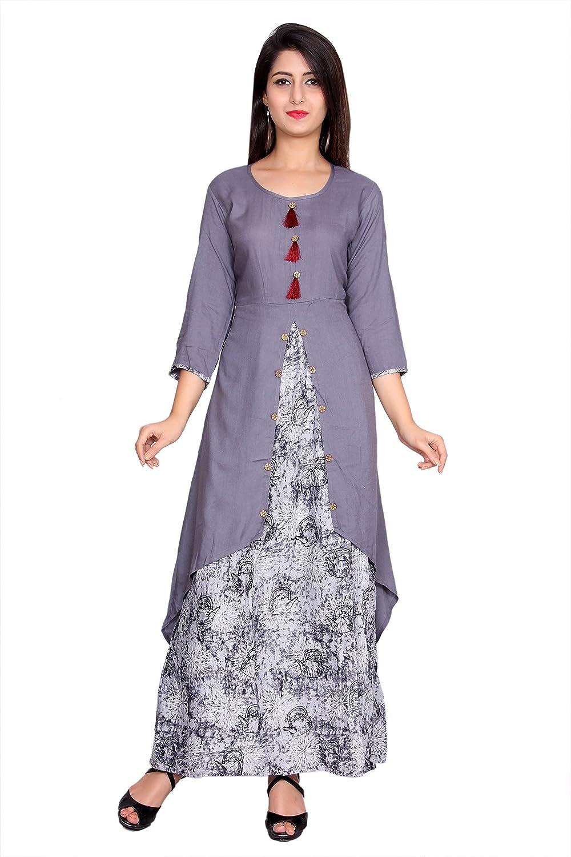 Indian Exclusive Double Layered Stylish Tunic Top Indian Women's Kurti.