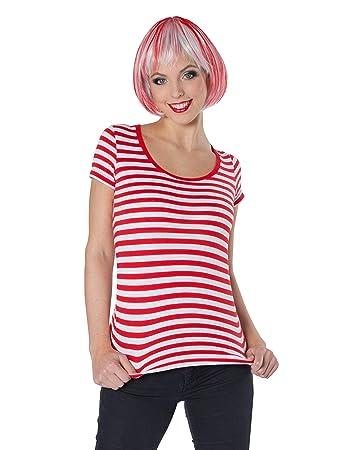 bc975891da7e4e Deiters Lady-Ringelshirt Kurzarm rot weiß S  Amazon.de  Spielzeug