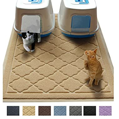 Jumbo Litter Mat 47  x 36  Cat Litter Mat, Traps Messes, Easy Clean, Durable, Non Toxic Trapper Rug - Litter Box Mat, Cat Mat, Kitty Litter Mat