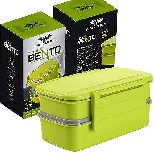 Daring Dibbles Bento Box - sin BPA - se puede usar en microondas ...