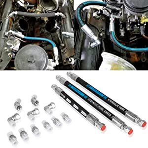High Pressure Oil Pump HPOP Hoses Lines Kit & Crossover Engine Oil Pumps Fits For Ford 1999-2003 7.3L Powerstroke