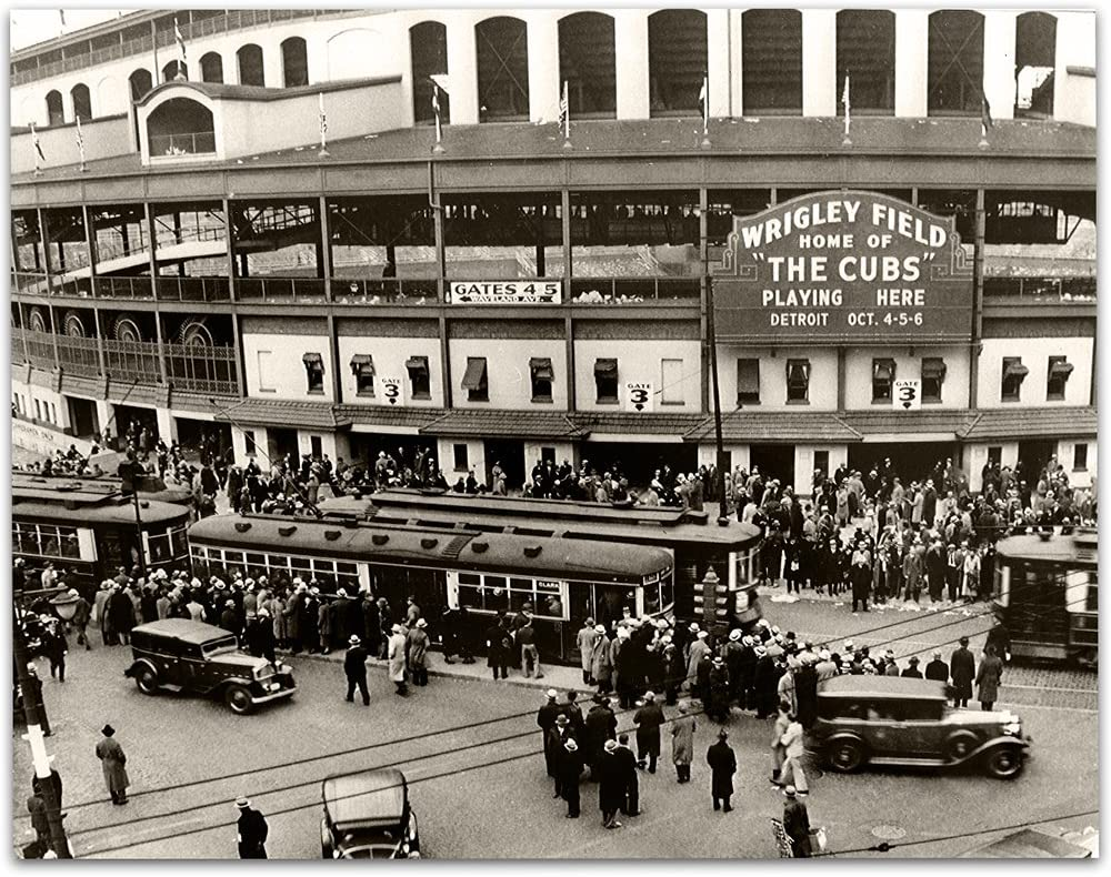 Lone Star Art Wrigley Field - Home of The Cubs - 11x14 Unframed Print - Great Sports Bar Decor and Gift Under $15 for Baseball Fans