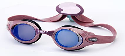 85baefa4371 Sable Women s 924 MT Dusty Pink Frames Blue Mirror Lenses Swim Goggles
