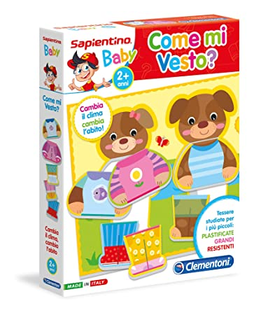 Clementoni 11963 - Sapientino Baby Come Mi Vesto: Amazon.it ...