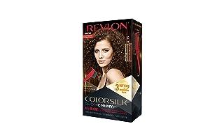 Revlon Colorsilk Buttercream Hair Dye, Medium Natural Brown, Pack of 1