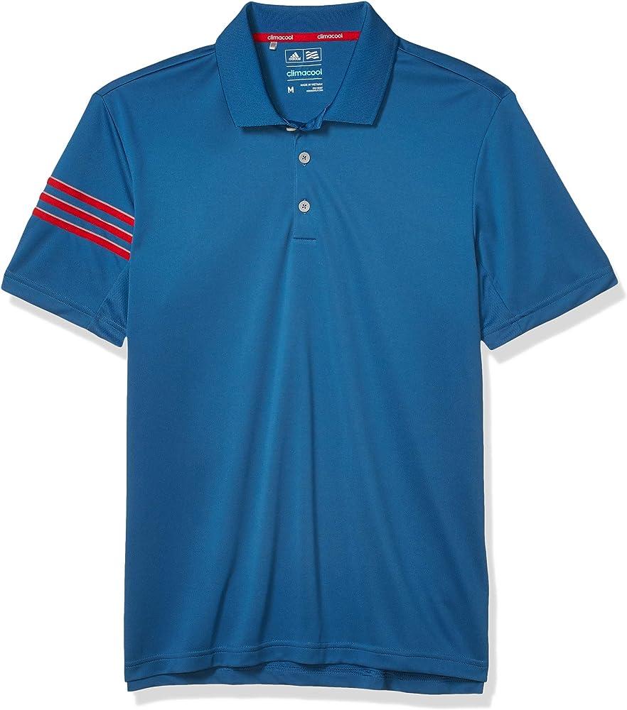Enajenar Sin Segundo grado  Amazon.com: adidas Golf Men's Climacool 3 Stripe Club Polo, Core Blue,  Medium: Clothing