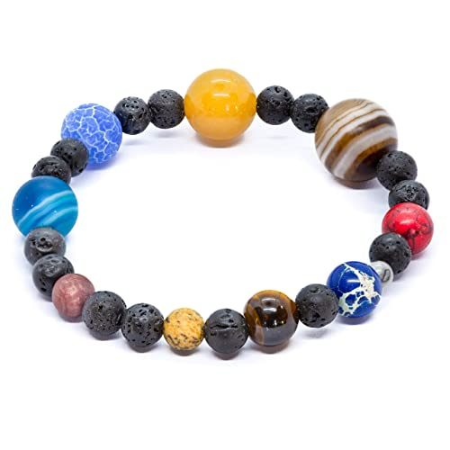 design senza tempo 124b7 13085 Bracciale del sistema solare. Con la carta del significato del pianeta