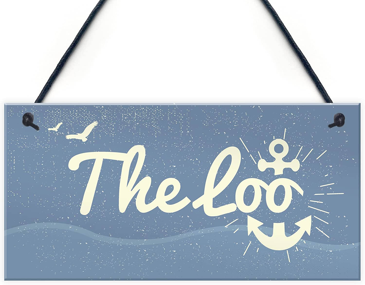 XLD Store The Loo Bathroom Signs Seaside Plaques Nautical Gift Shabby Chic Vintage Home Decor