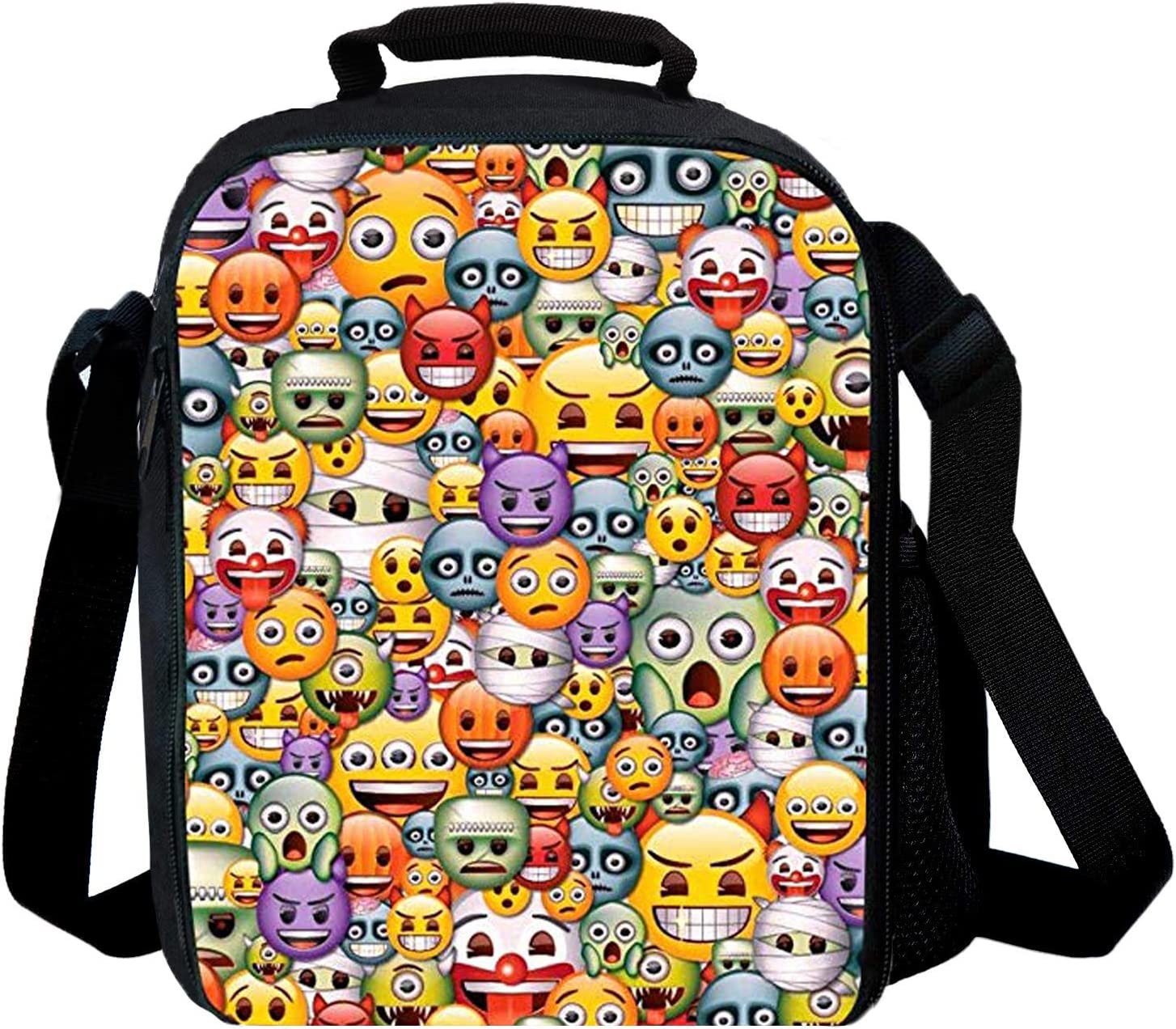 7-Mi Holder Insulated Cooler Reusable Ice Packs for Lunch Boxes Lunch Tote Food Storage Bag (Emoji)
