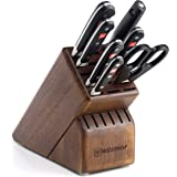 WÜSTHOF Classic Eight Piece Deluxe Walnut Block Set | 8-Piece German Knife Set | Precision Forged High Carbon Stainless…