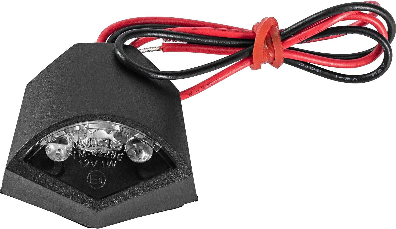 Hashiru Led Nummernschildbeleuchtung 01 Selbstklebend Schwarz Unisex Multipurpose Ganzjährig Kunststoff Auto