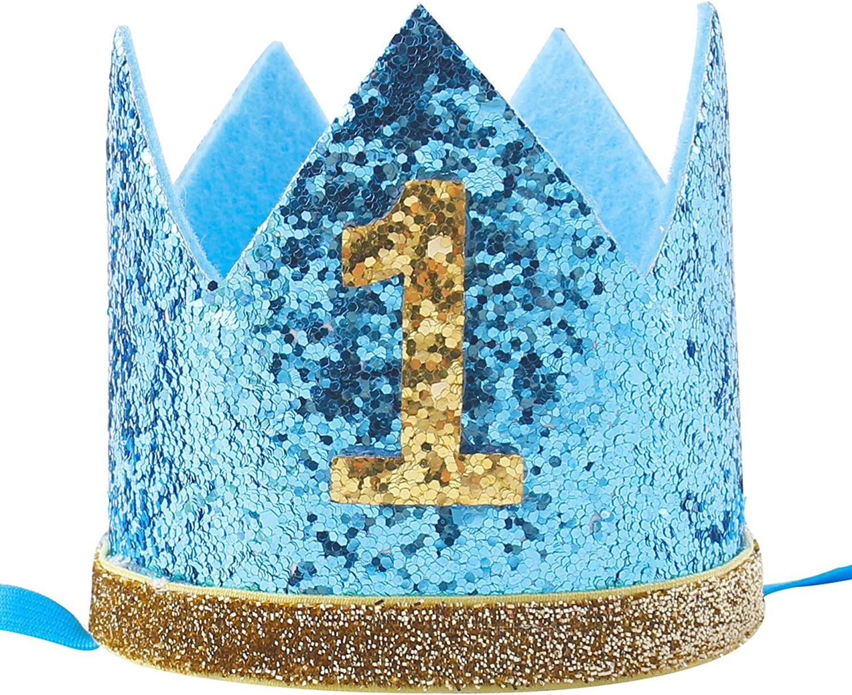 Super Celebris Glitter Baby Boy First Birthday Crown Hat Headband For Personalised Birthday Cards Petedlily Jamesorg