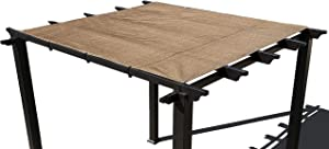 Alion Home Pergola Shade Cover Sunblock Patio Canopy HDPE Permeable Cloth with Grommets (6' x 10', Walnut)
