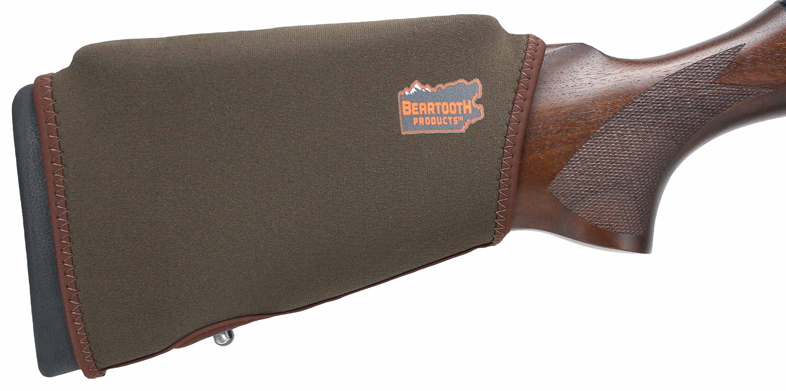 Beartooth Comb Raising Kit 2.0 - Premium Neoprene Gun Stock Cover + (5) Hi-density Foam Inserts - NO LOOPS MODEL (Brown)