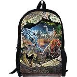 Large Cool School Bag Dinosaur Cute Kids Durable Personalized Backpack Bookbags