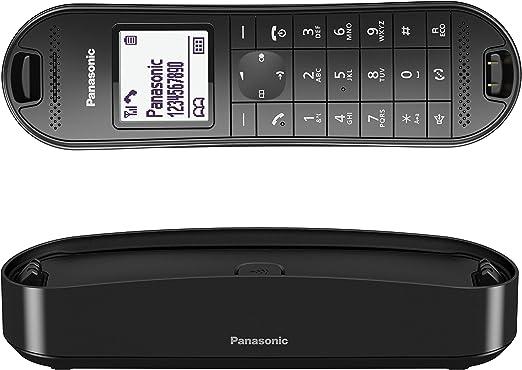 Panasonic KX-TGK310 - Teléfono fijo inalámbrico de diseño (LCD, identificador de llamadas, agenda de 120 números, bloqueo de llamada, modo ECO Plus), color negro: BLOCK: Amazon.es: Electrónica