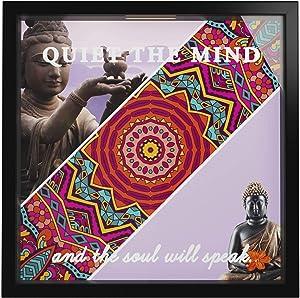 Buddha Decor | Buddhist Artwork Gifts | Zen Living Room Decorations | Home Decor Buddha Theme | Buddhism Keepsake Storage Frame | Photo Memory Box | Meditation Lovers Picture Frames Gift