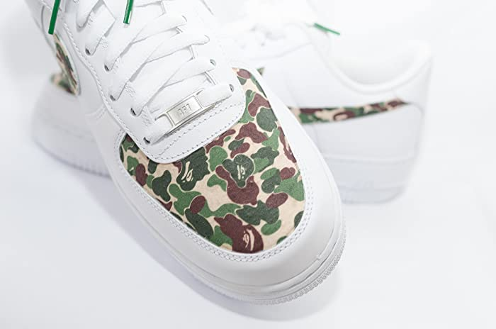 ff9b73ccdc96 Amazon.com  Nike Air Force 1 AF1 Custom Bathing Ape Bape Camo Edition   Handmade
