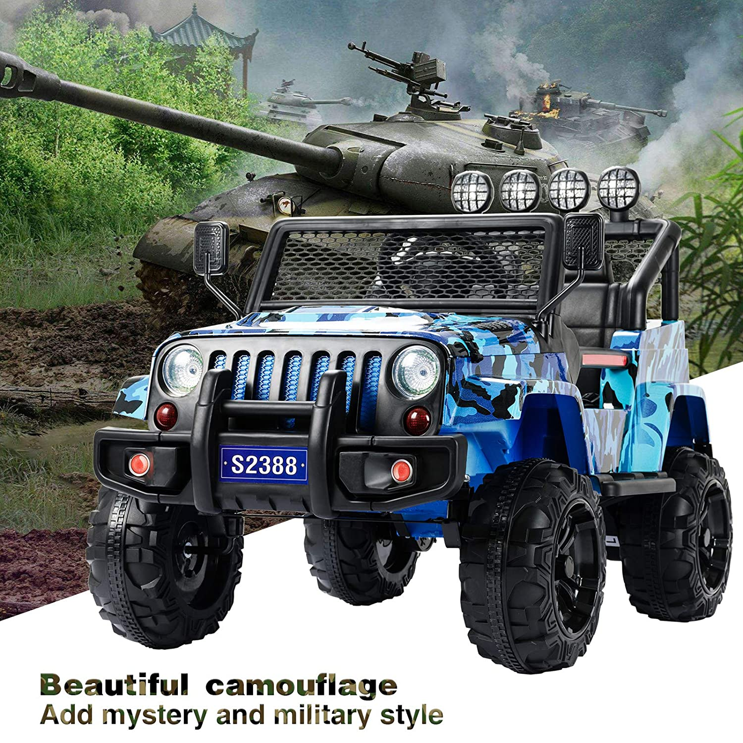 Uenjoy Kids Ride on Cars with Remote Control New Camouflage Color W// Spring Suspension Camo Pink Music/& Story Playing Colorful Lights Sunshine Model