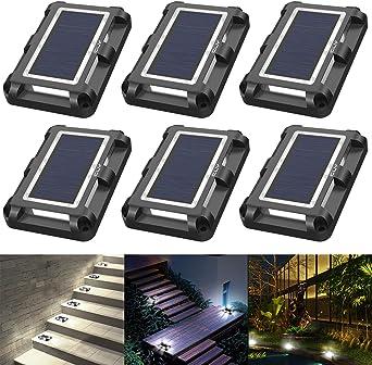 Lámpara de pie solar, luz solar enterrada blanca fría 6000K CLY, lámpara de paisaje para exteriores, lámpara de pie para jardín, IP67 para escalera exterior, carretera. Conjunto de 6: Amazon.es: Iluminación