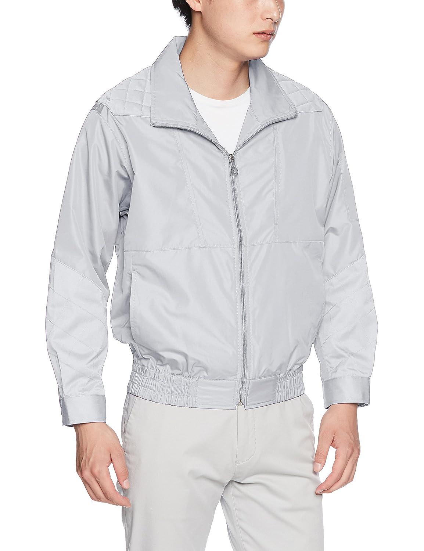 [空調風神服] bigborn(ビッグボーン) UVカット素材長袖ブルゾン BK6057(単品/ファンなし/ブルゾンのみ) メンズ BK6057 B07CTR2FX3 日本 5L (日本サイズ5L相当)|68:シルバーグレーダークグレー
