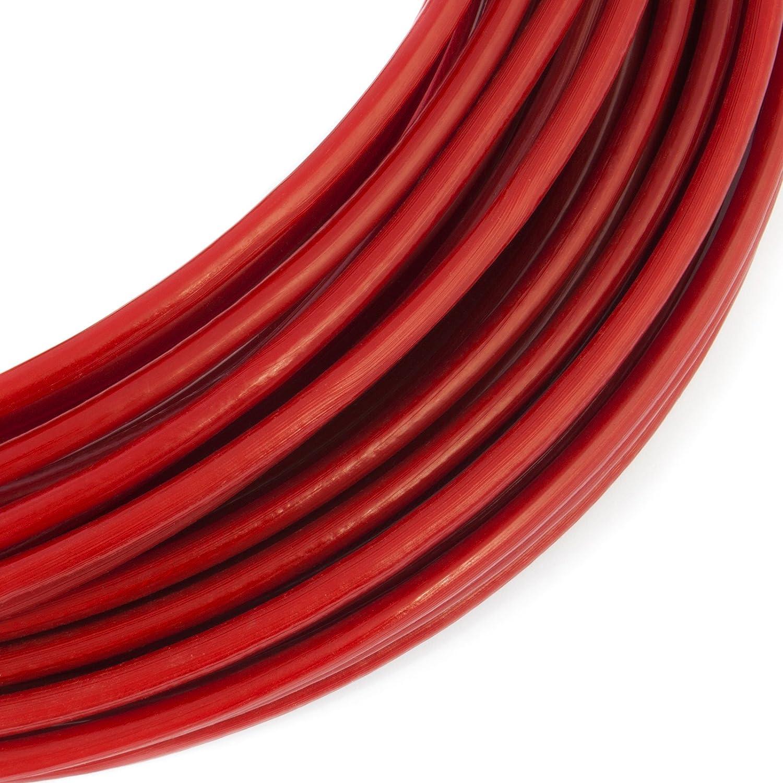 1m PVC cable acier 2mm rouge couleur 1x7 gaine corde de foresterie galvanis/é avec revetement en polymere