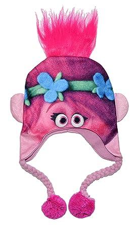 dreamworks trolls pink poppy winter hat one size pink amazon ca