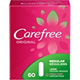 Carefree Original Ultra-Thin Panty Liners, Regular, Fresh Scent, 60 Count, (Pack of 8)