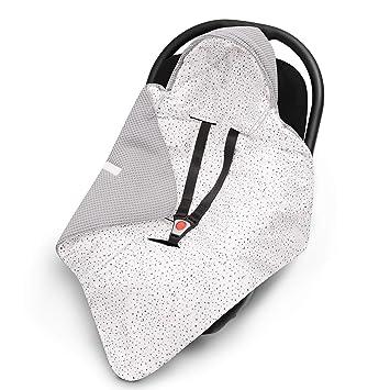 Grau universal z.B Maxi Cos Leichte Baby Decke f/ür Autositz aus Waffelstoff und Baumwolle f/ür den Sommer und Fr/ühling EliMeli Einschlagdecke f/ür Babyschale 100/% Baumwolle