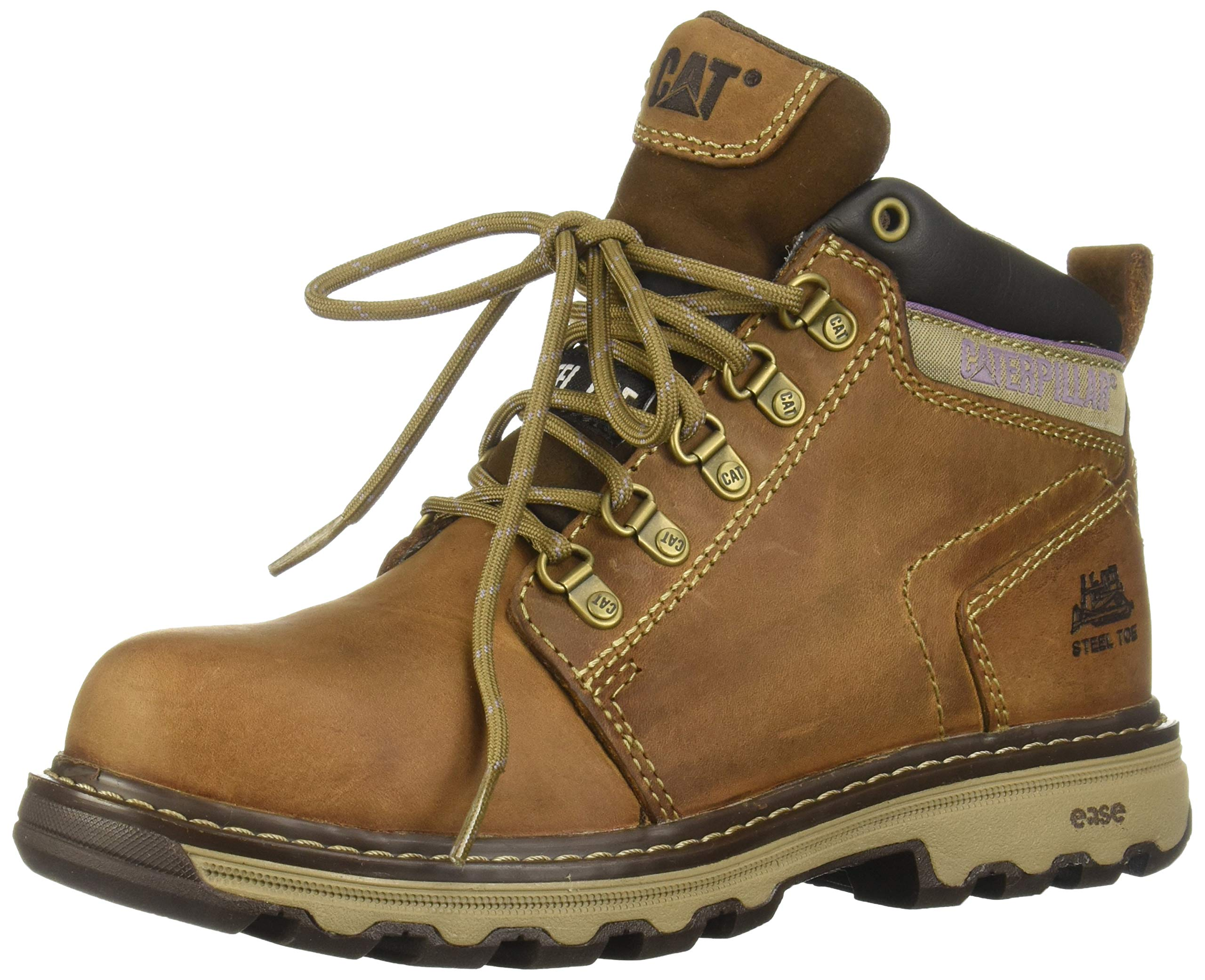 Caterpillar Women's Ellie Steel Toe Work Boot, Dark Beige, 9 M US by Caterpillar