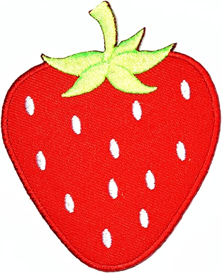 iron On Pink Strawberry Embroidery Applique Patch Sew Iron Badge